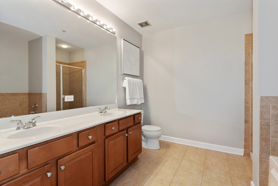 Real Estate Photography - 233 E 13th St, Unit 2201, Chicago, IL, 60605 - Master Bathroom