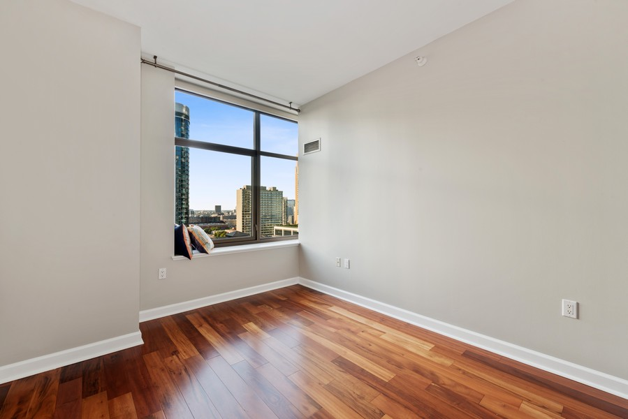 Real Estate Photography - 233 E 13th St, Unit 2201, Chicago, IL, 60605 - 2nd Bedroom