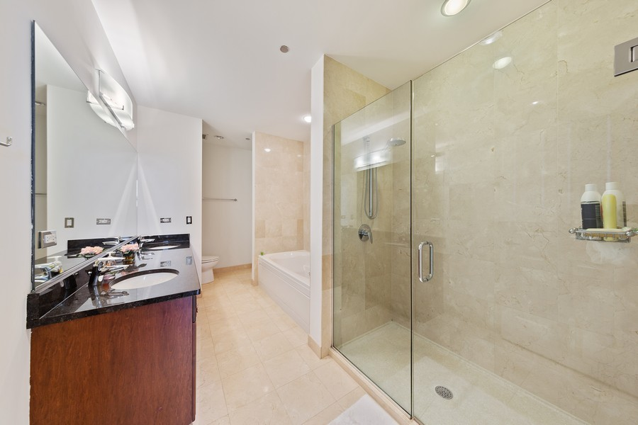Real Estate Photography - 6 North Michigan Ave, 902, Chicago, IL, 60602 - Master Bathroom