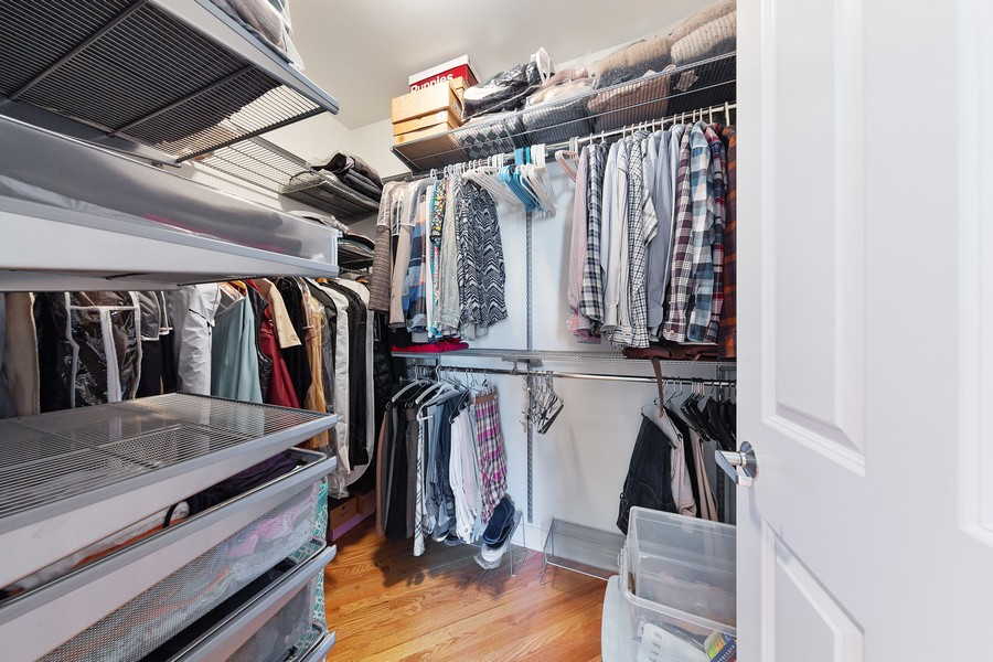 Real Estate Photography - 6 North Michigan Ave, 902, Chicago, IL, 60602 - Master Bedroom Closet
