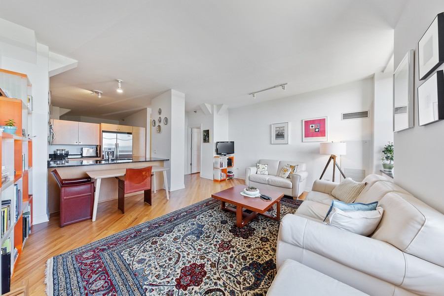 Real Estate Photography - 6 North Michigan Ave, 902, Chicago, IL, 60602 - Living Room / Dining Room