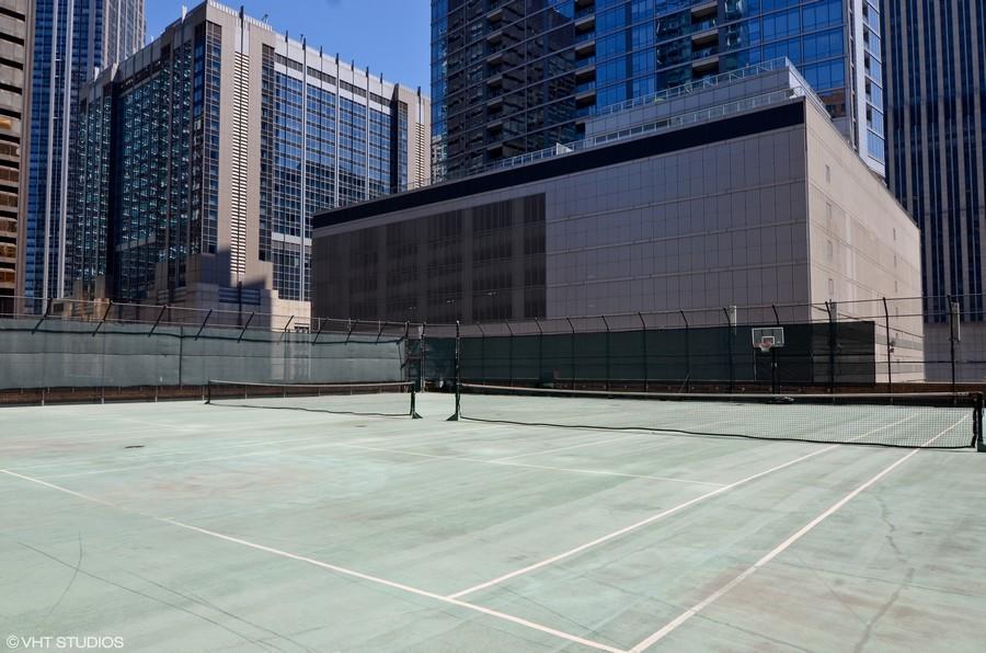 Real Estate Photography - 211 E Ohio St, Apt 809, Chicago, IL, 60611 - Tennis Court