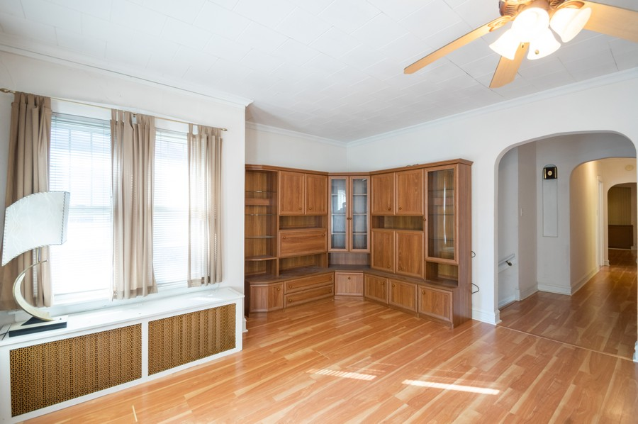 Real Estate Photography - 4818 North Harding Ave, Chicago, IL, 60625 - Foyer/Living Room