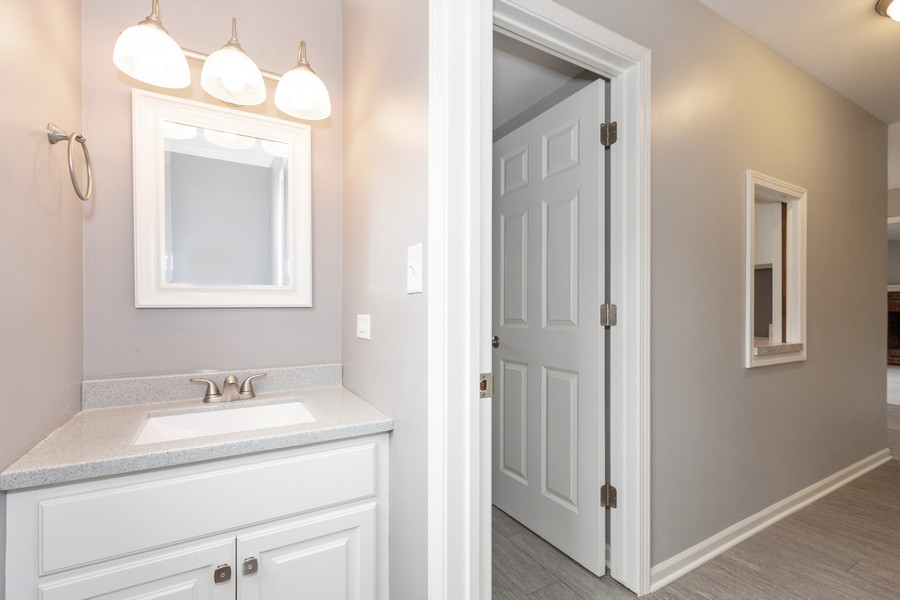Real Estate Photography - 1301 St Croix Ave, Naperville, IL, 60564 - Powder Room