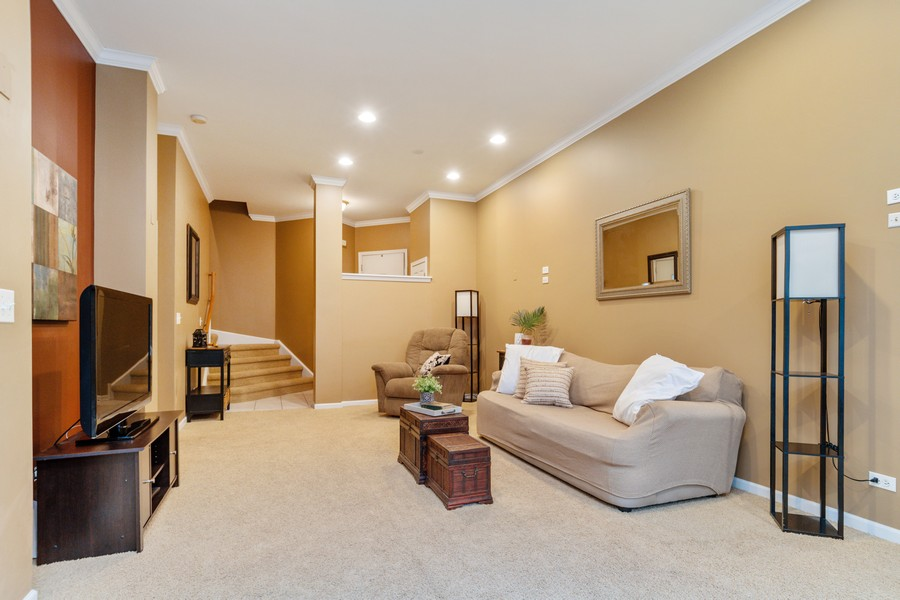Real Estate Photography - 3357 Rosecroft, Naperville, IL, 60564 - Living Room