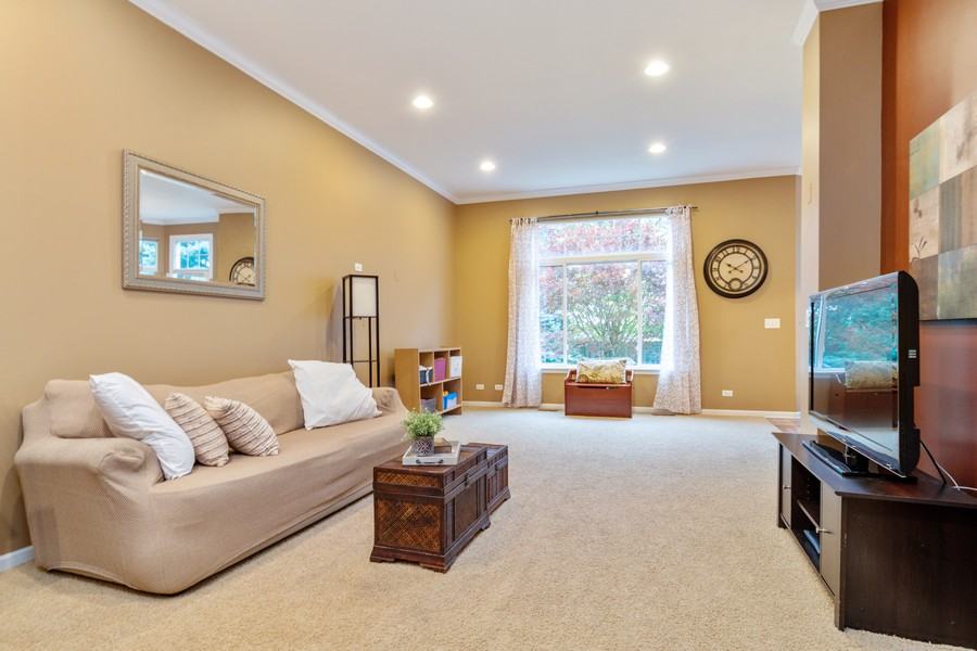 Real Estate Photography - 3357 Rosecroft, Naperville, IL, 60564 - Family Room