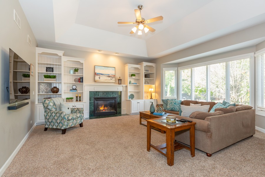 Real Estate Photography - 3443 Redwing Dr, Naperville, IL, 60564 - Family Room