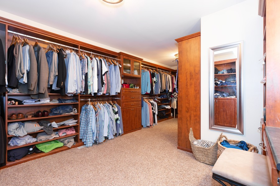 Real Estate Photography - 3443 Redwing Dr, Naperville, IL, 60564 - Master Bedroom Closet
