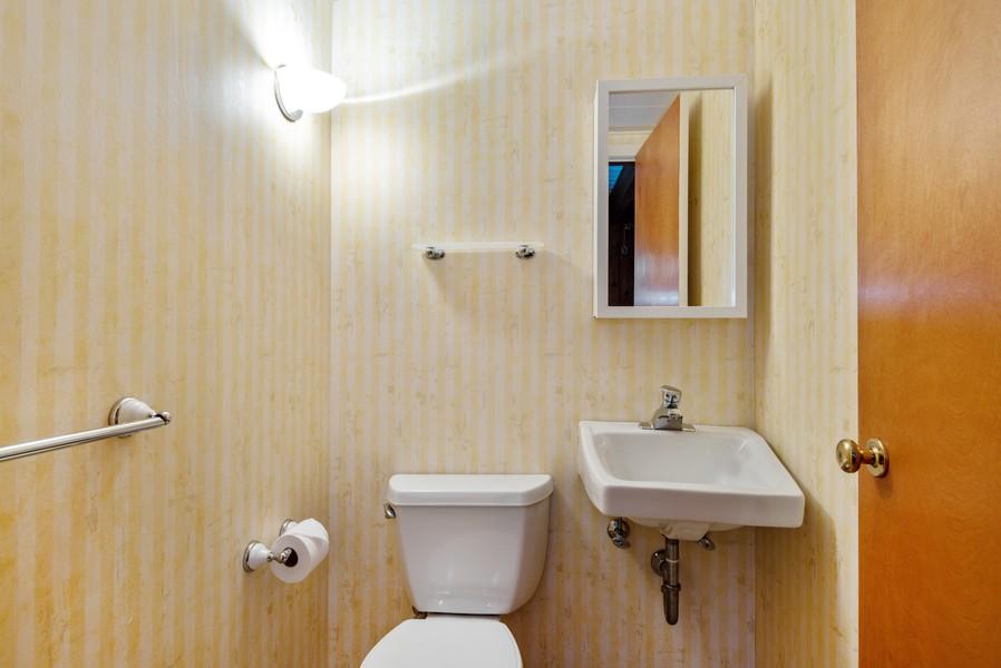 Real Estate Photography - 3515 Hillside Rd, Evanston, IL, 60201 - Half Bath