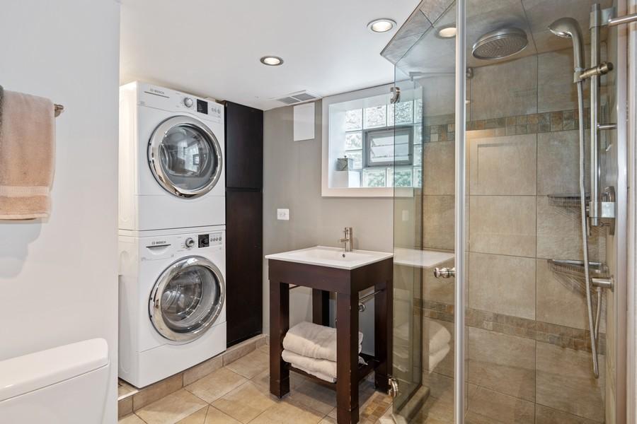 Real Estate Photography - 6442 Fairfield Ave, Berwyn, IL, 60402 - 2nd Bathroom