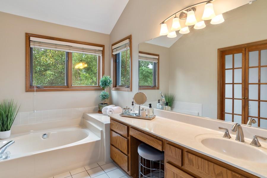 Real Estate Photography - 800 Lund Ln, Batavia, IL, 60510 - Master Bathroom