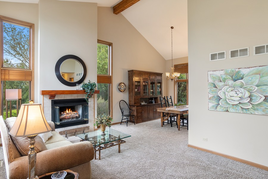 Real Estate Photography - 800 Lund Ln, Batavia, IL, 60510 - Living Room / Dining Room