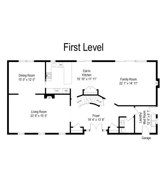 Real Estate Photography - 4003 Yorkshire Ln, Northbrook, IL, 60062 - Floor Plan