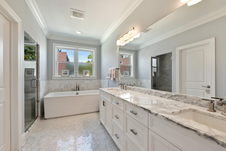 Real Estate Photography - 1668 West Olive Ave, Chicago, IL, 60660 - Master Bathroom