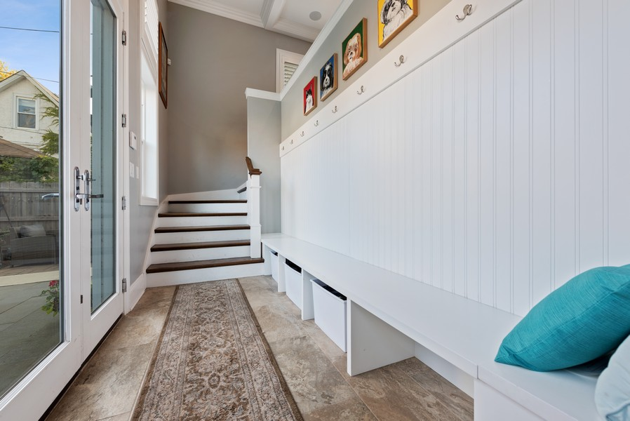 Real Estate Photography - 1668 West Olive Ave, Chicago, IL, 60660 - Mudroom