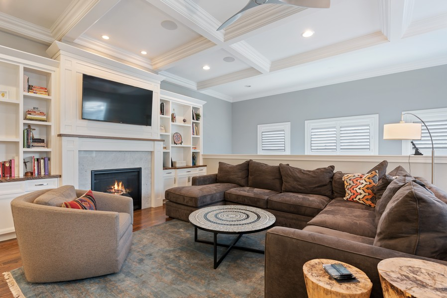 Real Estate Photography - 1668 West Olive Ave, Chicago, IL, 60660 - Family Room