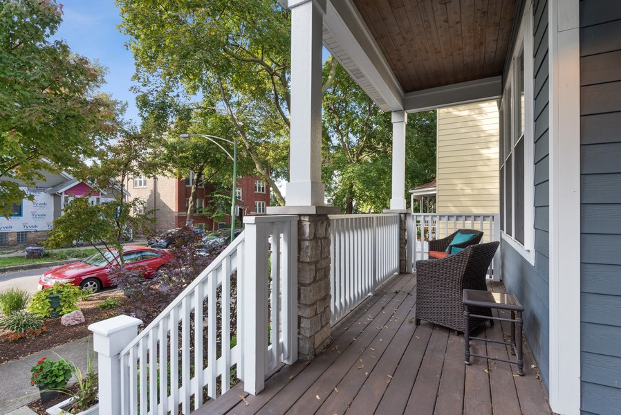 Real Estate Photography - 1668 West Olive Ave, Chicago, IL, 60660 - Porch