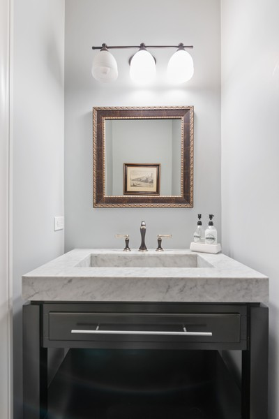 Real Estate Photography - 1668 West Olive Ave, Chicago, IL, 60660 - Half Bath