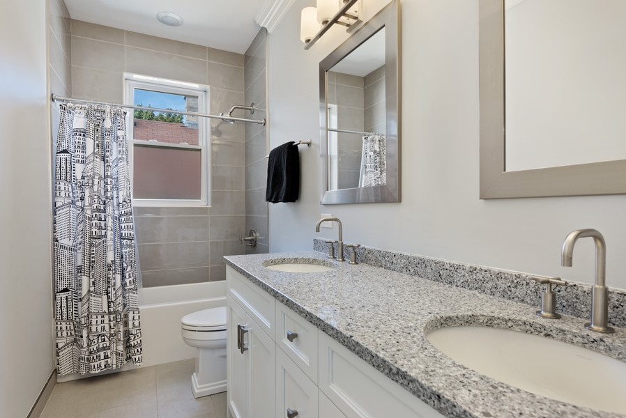 Real Estate Photography - 1668 West Olive Ave, Chicago, IL, 60660 - 2nd Bathroom