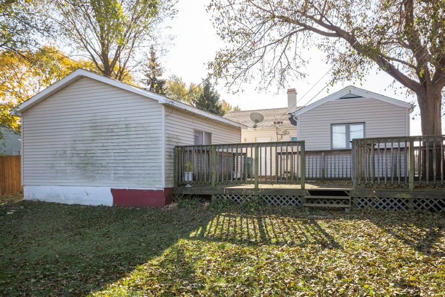 Real Estate Photography - 1501 Boston Ave, Joliet, IL, 60435 - Rear View