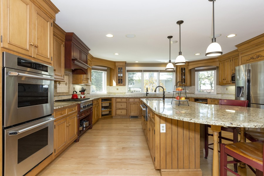 Real Estate Photography - 1015 Revere Ct, Naperville, IL, 60540 - Kitchen - Thermador Professional Appliances & Doub