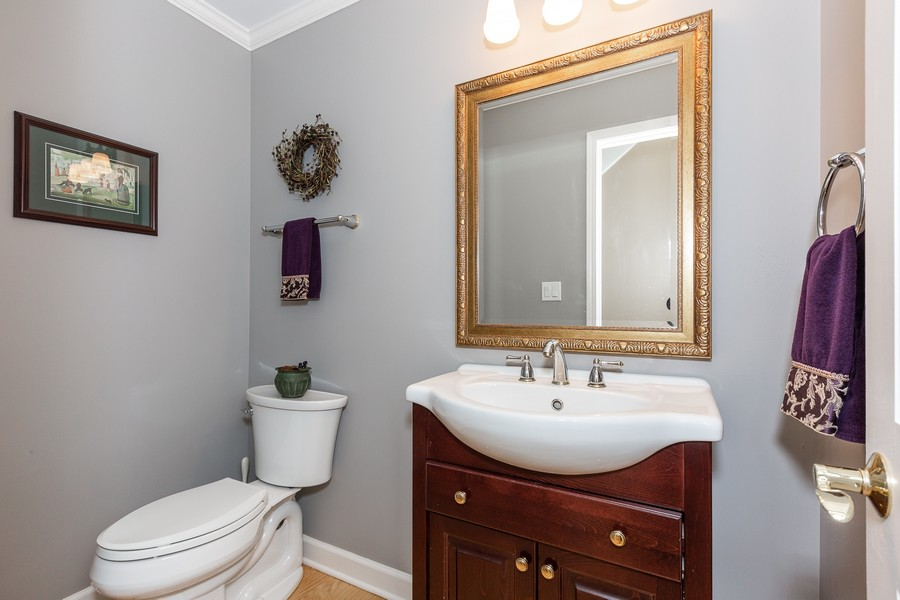 Real Estate Photography - 1015 Revere Ct, Naperville, IL, 60540 - 1st Floor Powder Room