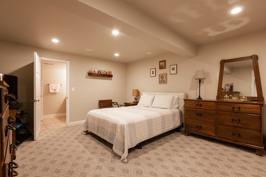 Real Estate Photography - 1015 Revere Ct, Naperville, IL, 60540 - Basement Bedroom