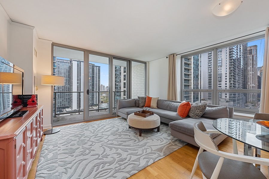 Real Estate Photography - 420 East Waterside Dr, 1403, Chicago, IL, 60601 - Living Room
