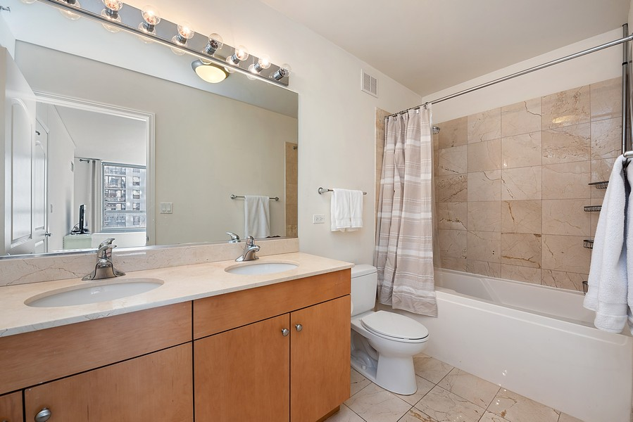 Real Estate Photography - 420 East Waterside Dr, 1403, Chicago, IL, 60601 - Master Bathroom