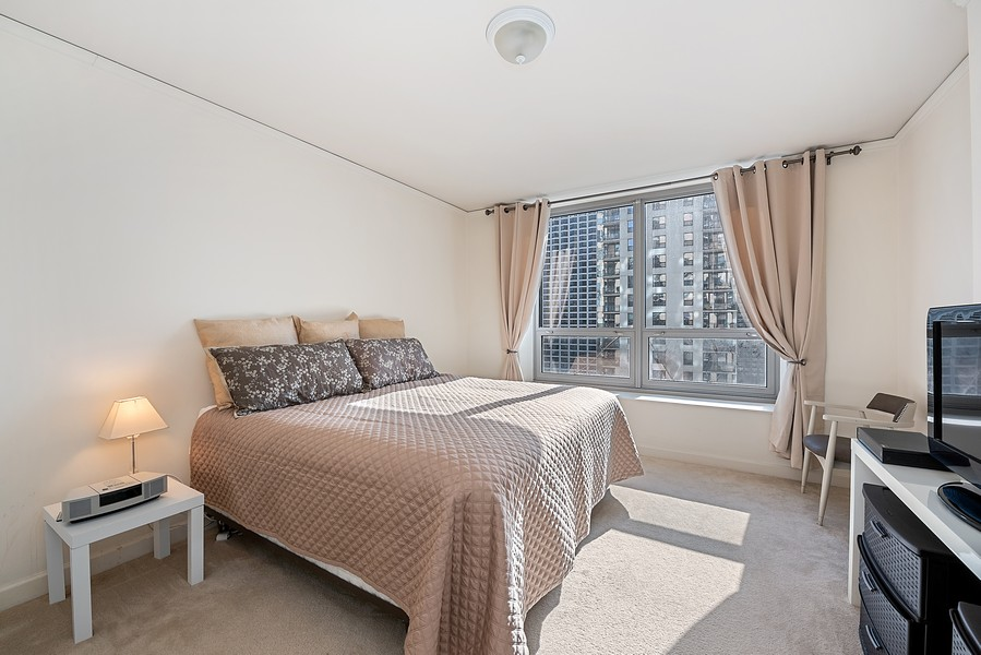 Real Estate Photography - 420 East Waterside Dr, 1403, Chicago, IL, 60601 - Master Bedroom