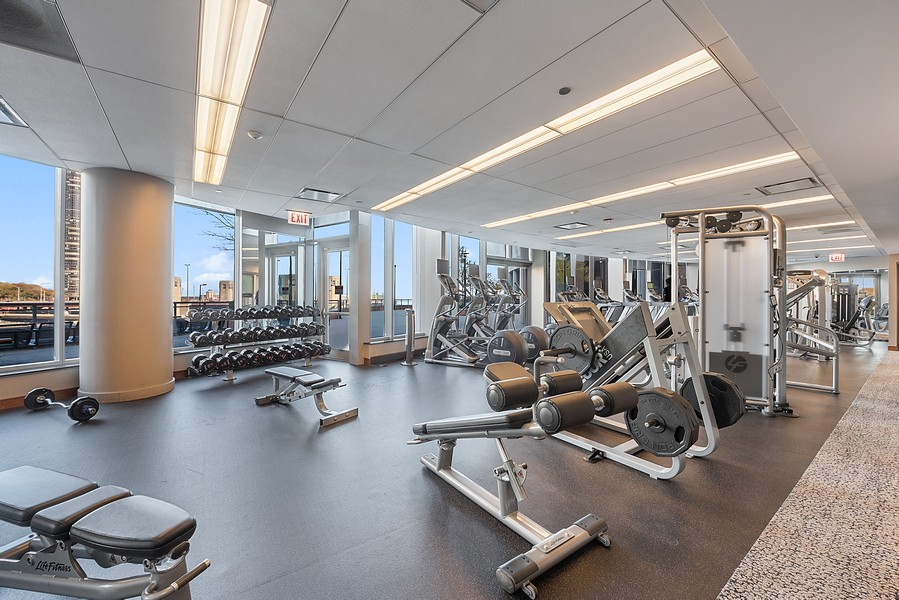 Real Estate Photography - 420 East Waterside Dr, 1403, Chicago, IL, 60601 - Gym