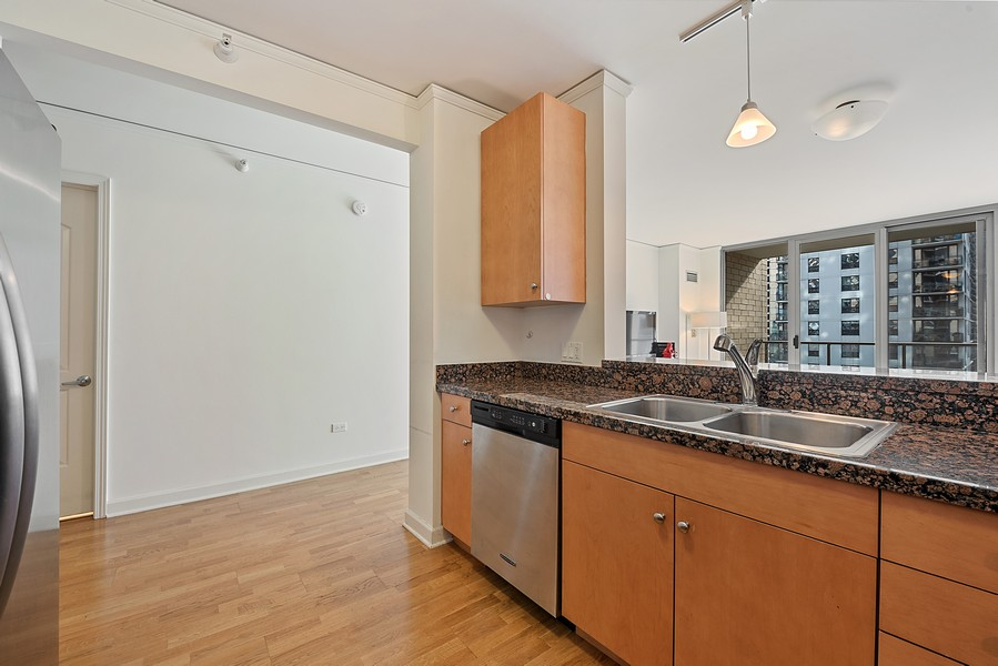 Real Estate Photography - 420 East Waterside Dr, 1403, Chicago, IL, 60601 - Kitchen