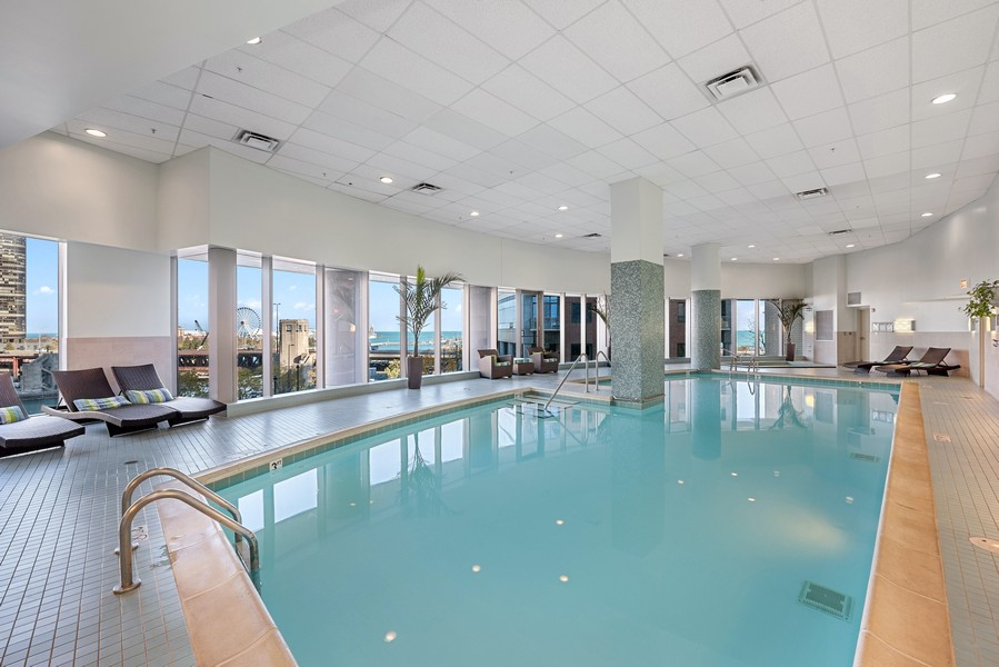 Real Estate Photography - 420 East Waterside Dr, 1403, Chicago, IL, 60601 - Pool