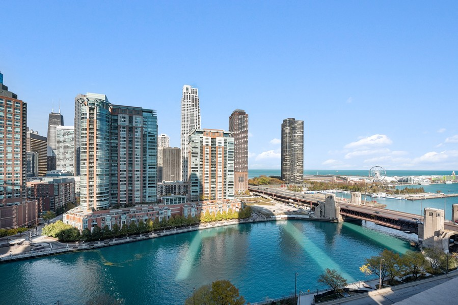 Real Estate Photography - 420 East Waterside Dr, 1403, Chicago, IL, 60601 - Lake View