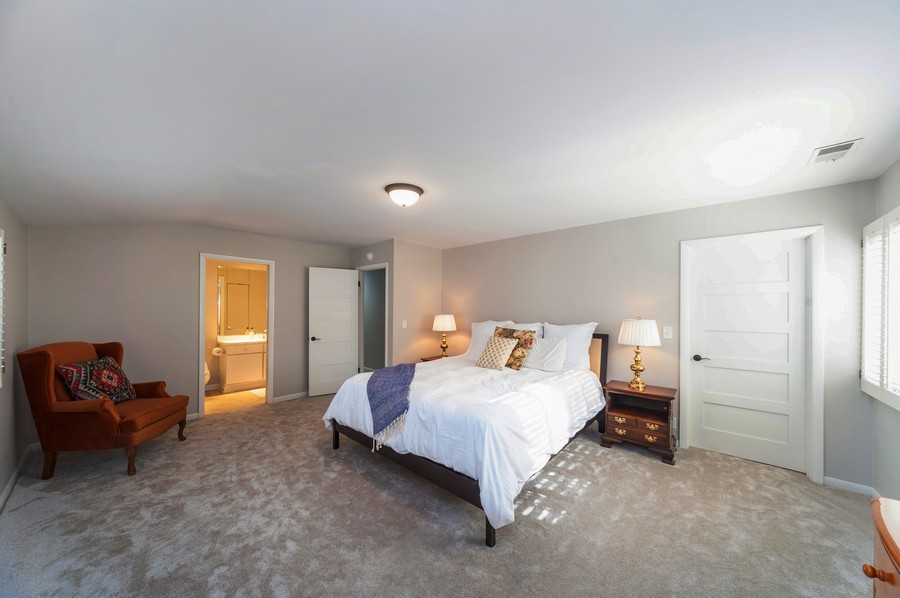 Real Estate Photography - 1555 Tower Rd, Winnetka, IL, 60093 - Master Bedroom