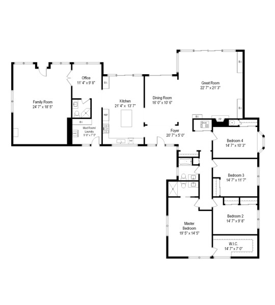 Real Estate Photography - 1555 Tower Rd, Winnetka, IL, 60093 - Floor Plan