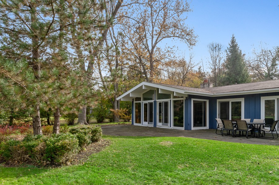 Real Estate Photography - 1555 Tower Rd, Winnetka, IL, 60093 - Rear View