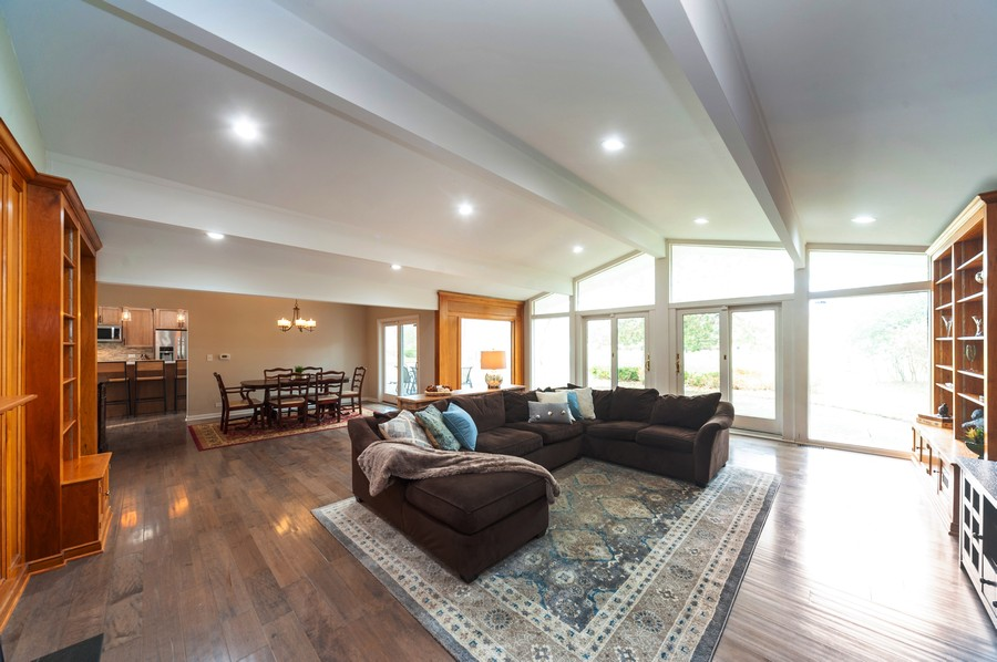 Real Estate Photography - 1555 Tower Rd, Winnetka, IL, 60093 - Living Room / Dining Room