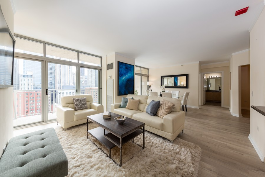 Real Estate Photography - 600 North Dearborn St, 1908, Chicago, IL, 60654 - Living Room