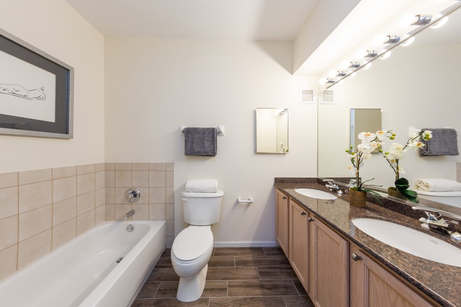Real Estate Photography - 600 North Dearborn St, 1908, Chicago, IL, 60654 - Master Bathroom