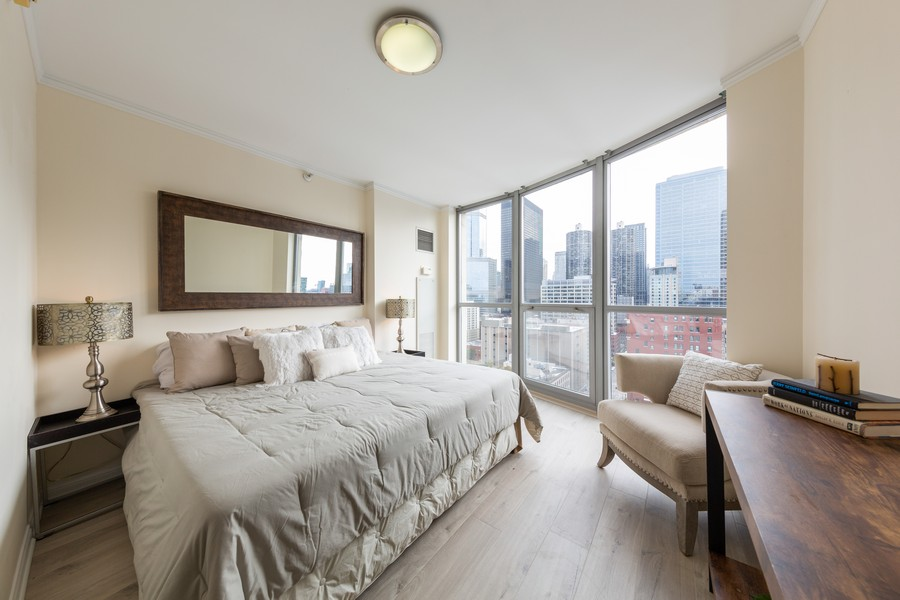Real Estate Photography - 600 North Dearborn St, 1908, Chicago, IL, 60654 - Master Bedroom