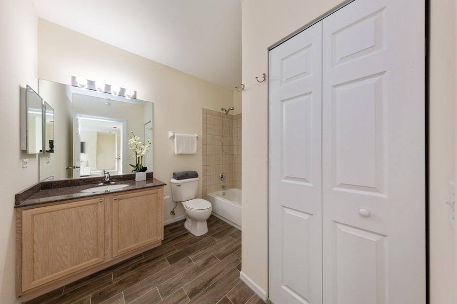 Real Estate Photography - 600 North Dearborn St, 1908, Chicago, IL, 60654 - 2nd bathroom with large linen closet
