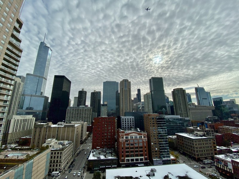 Real Estate Photography - 600 North Dearborn St, 1908, Chicago, IL, 60654 - View from the Balcony
