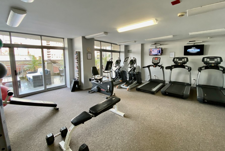 Real Estate Photography - 600 North Dearborn St, 1908, Chicago, IL, 60654 - Fitness center