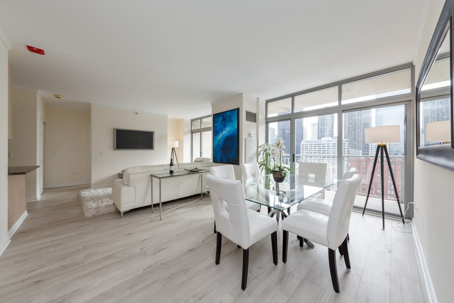 Real Estate Photography - 600 North Dearborn St, 1908, Chicago, IL, 60654 - Living Room / Dining Room