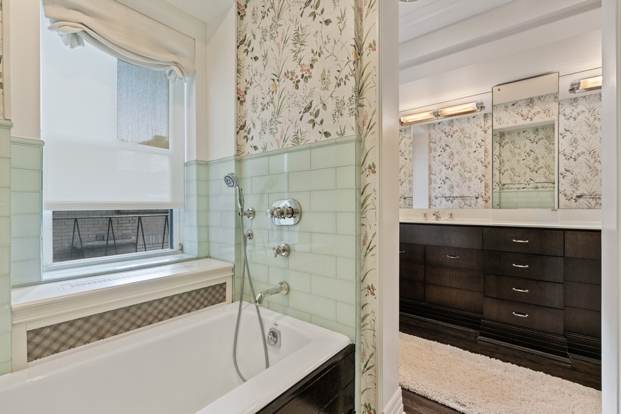 Real Estate Photography - 1540 North Lake Shore Dr, 3S, Chicago, IL, 60610 - Master Bathroom