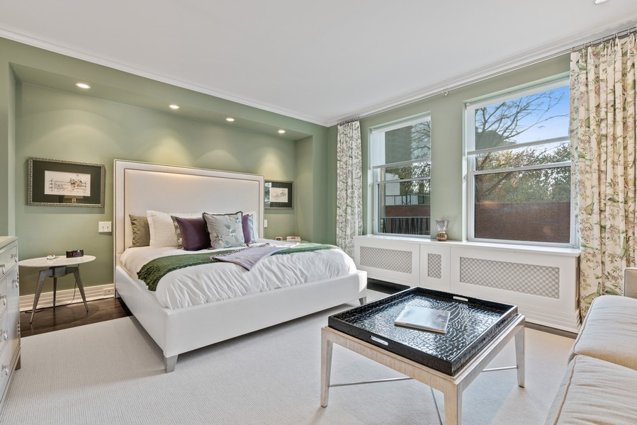 Real Estate Photography - 1540 North Lake Shore Dr, 3S, Chicago, IL, 60610 - Master Bedroom