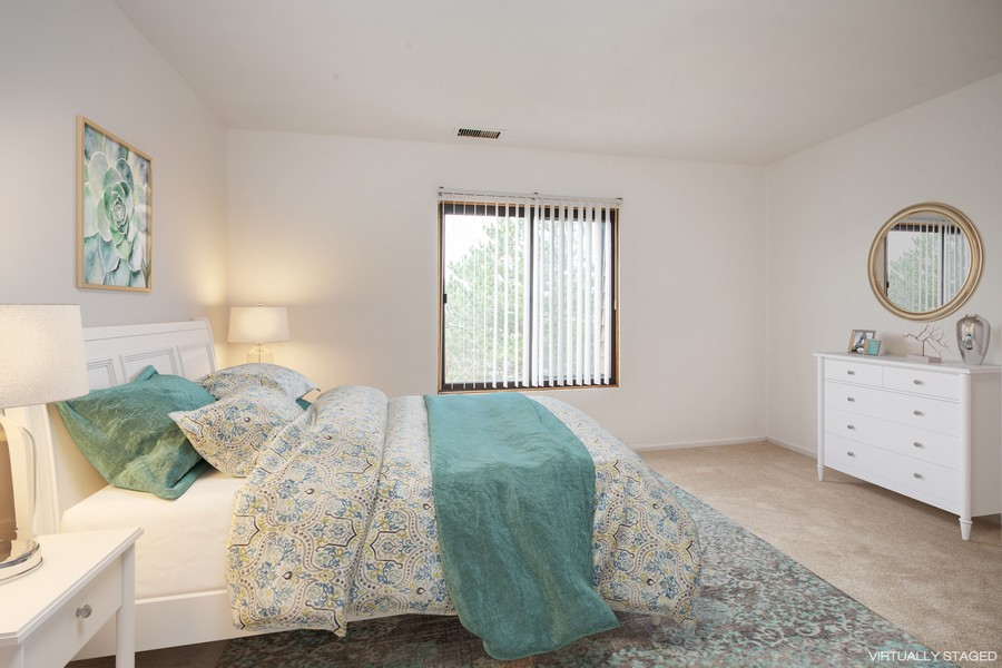 Real Estate Photography - 608 South Waterford Rd, 3A, Schaumburg, IL, 60193 - Bedroom