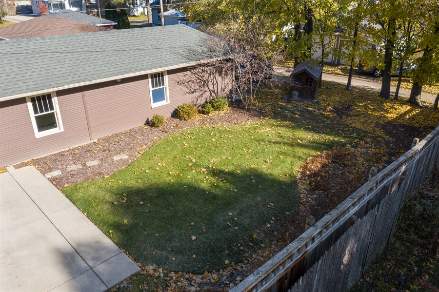 Real Estate Photography - 16 South Wright St, Naperville, IL, 60540 - Aerial View