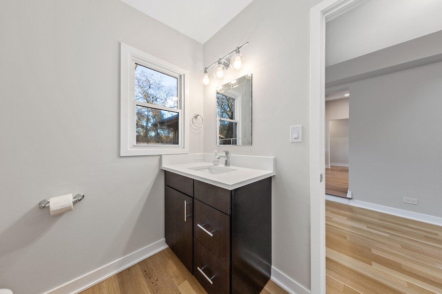 Real Estate Photography - 216 Shady Ln, Downers Grove, IL, 60515 - Half Bath